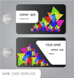 Abstract name card business design vector