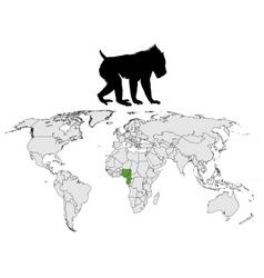 mandrill range map vector image