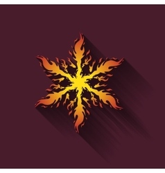 Icon fiery snowflakes vector