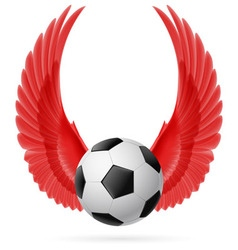 Flying ball vector