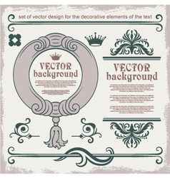 decorative items vector image