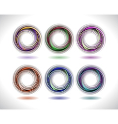 Abstract colorful swirl collection vector image vector image