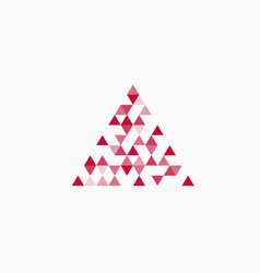 abstract triangle red background vector image vector image