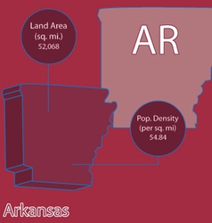 Arkansas 3D info graphic vector image