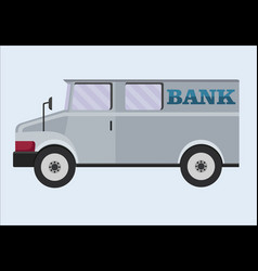 armored truck banking transportation of vector image