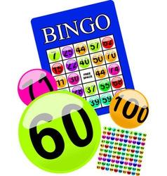 Bingo card vector