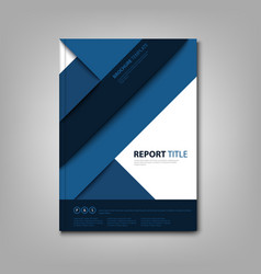 Brochures book or flyer with blue abstract vector