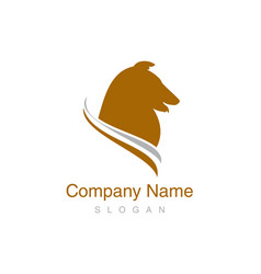 collie logo vector image vector image