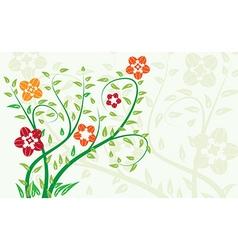 floral summer background vector image vector image
