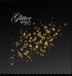 Gold glittering star dust vector