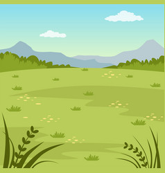 green field rural summer landscape nature vector image