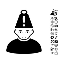 Head stress icon with flying drone tools bonus vector