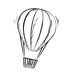 hot balloon basket sketch icon vector image vector image