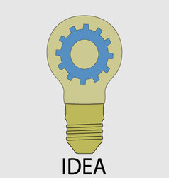 Idea icon flat design vector image vector image