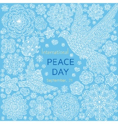 International peace day background vector