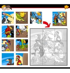 jigsaw puzzles with birds vector image