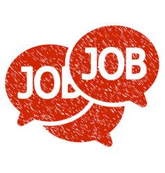Labor market grunge icon vector