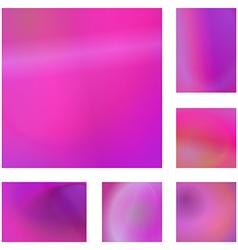 Magenta abstract background design set vector
