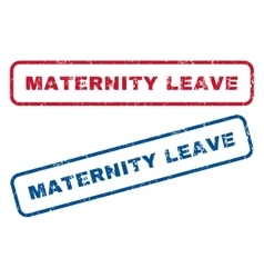 Maternity leave rubber stamps vector