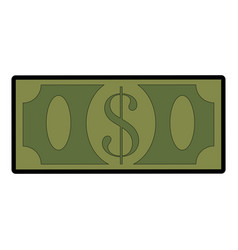 Money bill icon vector