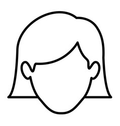Monochrome contour of faceless woman with the hair vector