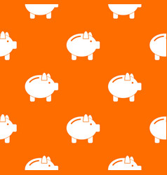 Piggy bank pattern seamless vector