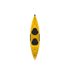 plastic yellow travel kayak isolated icon vector image