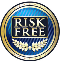 risk free icon vector image vector image