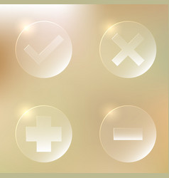 set of glassy icon set of glassy icon vector image vector image