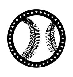 sober baseball emblem or label icon image vector image vector image