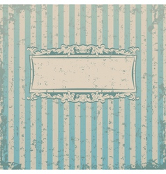 Striped retro background vector image vector image