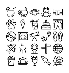 Summer and Travel Icons 2 vector image vector image
