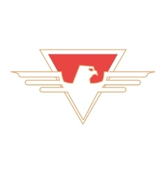 superhero superman eagle design vector image