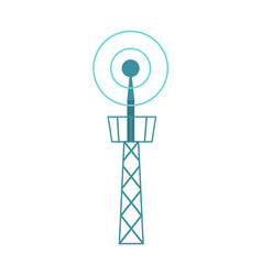 television tower isolated icon vector image vector image