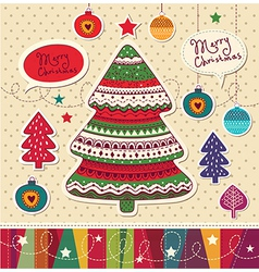 Funky Christmas Card vector image