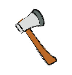 Axe fire tool vector