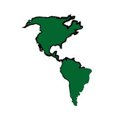 Green america map location geography atlas vector
