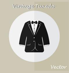 Vintage tuxedo suit or business suit vector