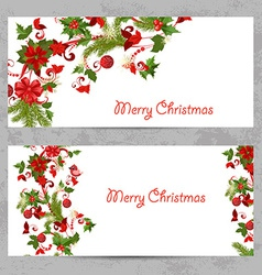 Invitation cards with a christmas pattern for your vector