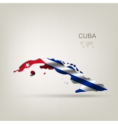 Flag of cuba as a country vector