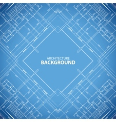 Blueprint building structure background vector