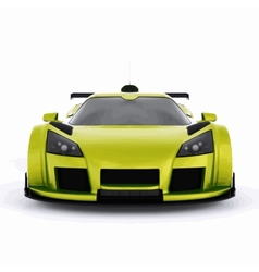 Very fast race green car vector
