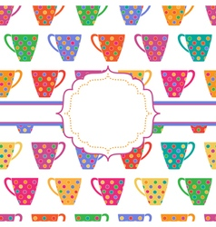 Background with multicolored cups vector