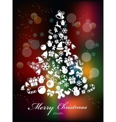 Colorful background with christmas elements vector