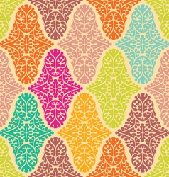 Colorfull seamless damask pattern vector