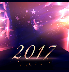 Abstract stars background with 2017 new year text vector