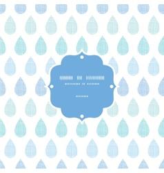 Abstract textile blue rain drops stripes seamless vector