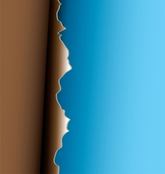 brown peel vector image