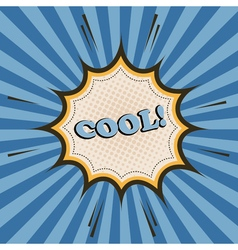 Cool comic cartoon wording vector image