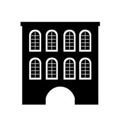 Cute building antique icon vector